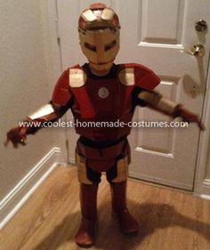 Coolest Homemade Childu0027s Iron Man Costume  sc 1 st  Pinterest : iron man costume for girls  - Germanpascual.Com