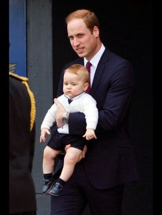 Very excited looking Prince a George and William leaving NZ. 4/16/14