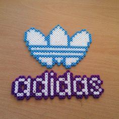 Adidas logo perler beads by dragoneyes00