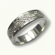 Sterling Silver Celtic Wave and Arches Wedding Band