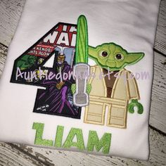 Yoda birthday shirt! Any name age or size!
