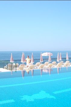 gorgeous pool at Grand Hotel du Cap Ferrat in the South of France
