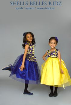 ankara by Shells Belles Kidz Ankara Styles For Kids, African Dresses For Kids, African Children, African Print Dresses, African Print Fashion, Africa Fashion, African Women, African Attire, African Wear