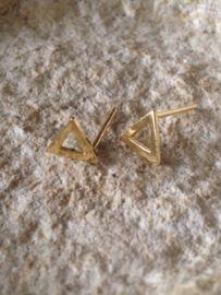 Oorknopje stud open driehoek