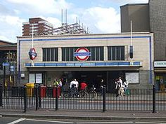 Mile End is the only subterranean station on the network that offers cross-platform interchange between 'tube' (Central line) and 'sub-surface' (District and Hammersmith & City line) trains. The station takes its name from the A11 Mile End Road, which itself is named after a milestone signifying the point one mile (1.6 km) east of the boundary of the City of London.