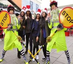 Book The Christmas Lollipop Ladies. Our comedy Christmas walkabout act is available to hire for children's events in London & the UK.