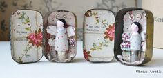 hens teeth : two vintage Pastilles altered artwork tins