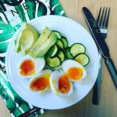#healthyfood #diet #strongnotskinny #paleo  Starting the day off with some protein from soft boiled eggs healthy fats from avocado.  I love adding green stuff like cucumbers broccoli or Brussels sprouts.  Yum yum! #healthylivingjunkie #foodporn #food #foodies #fitness #fitspiration #fitlife #fitfood #fit #foodblogger