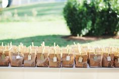 paper bag favorites  DIY Plantation Wedding