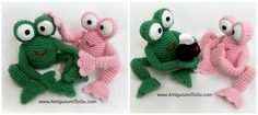 """Amigurumi To Go: Froggy With Egg and Without. These """"egg"""" crochet pieces/amigurumi have been delightful. See the blog for all of them!!! Free patterns!"""