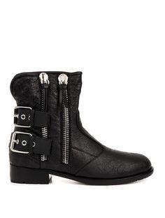 Giuseppe Zanotti Cobain leather buckle boots on shopstyle.com