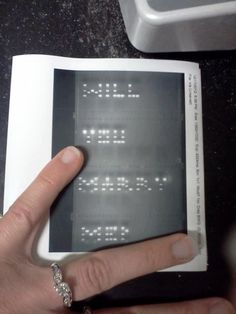 """proposta molto originale!!! """"How a molecular biologist proposes! So cute. DNA amplified to different sized fragments via the polymerase chain reaction, and then seperated by size on a gel. This isn't that hard actually."""""""