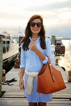 Classy Girls Wear Pearls: Chicest Picnic Love everything Outfit Elegantes, Look Fashion, Womens Fashion, Preppy Fashion, Classic Fashion Style, Nautical Fashion, Fashion 2018, Fashion Dresses, Classy Girl