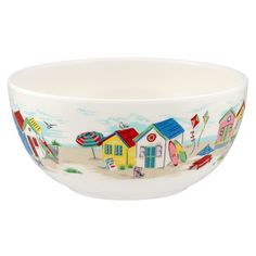 Beach Huts Melamine Bowl | Summer Picnics and Outdoor Dining | CathKidston