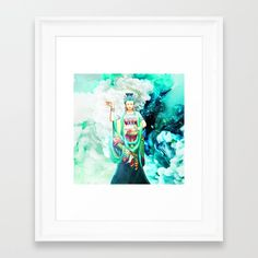 The Goddess of Mercy Framed Art Print by azima Framed Art Prints, Decor, Decoration, Decorating, Deco