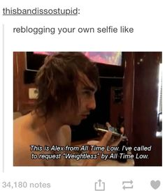 Alex Gaskarth of All Time Low, everyone
