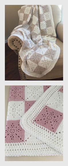 Beautiful Crochet Baby Blanket or Throw Pattern by Deborah OLeary Patterns