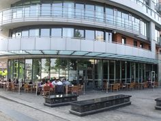 The Rocket - Easily located, on the bank of the River Thames – perfect if the sun is beaming; sitting on the well presented patio furniture whilst watching the world go by. Putney Bridge, River Thames, West London, Beams, Street View, Patio, Sun, World, Building