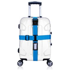 Cross Luggage Strapping with Lock Trolley Luggage Travel Suitcase Strap Baggage Belt Safe Packing Belt with POM Buckle Suitcase Packing, Travel Packing, Travel Luggage, Luggage Bags, Best Luggage, Luggage Straps, Luggage Accessories, Cross Designs, Backpack Bags