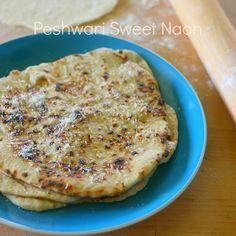 INDIAN: Peshwari naan is a sweet flatbread filled with a coconut, golden raisin, and cashew mixture. YUM!!