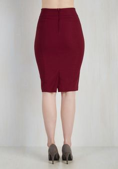 I'll Have the Usual Skirt in Cranberry | Mod Retro Vintage Skirts | ModCloth.com