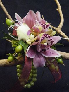by Floral Expressions of Chapel Hill Sunflower Corsage, Rose Corsage, Corsage Wedding, Tropical Floral Arrangements, Beautiful Flower Arrangements, Prom Flowers, Wedding Flowers, Mother Of The Bride Flowers, Enchanted Florist
