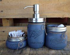 Choose 1 Mason Jar Soap Dispenser Rustic by MidnightOwlCandleCo