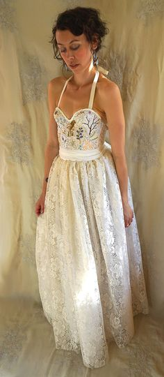 Meadow Bustier Wedding Gown or Formal Dress... by jadadreaming