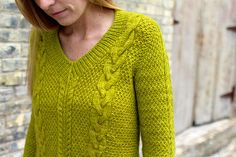 """The perfect sweater for fall -- luscious cables and texture throughout. Fun to knit and easy to wear. $1 off through midnight (CDT) tomorrow (Sept. 15th) with code """"MillerFall""""!"""