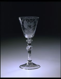 Wine glass, Northern Netherlands, probably engraved by A., dated Museum Number Drinking Glass, Victoria And Albert Museum, Art Museum, Metal Working, Wine Glass, Sculpture, Ceramics, Utrecht, Antiques