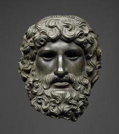 Head of Jupiter (Zeus), Roman (bronze), 1st century aD (Kunsthistorisches Museum, Vienna).