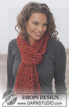Drops 86-32, knitted Scarf in Drops Eskimo