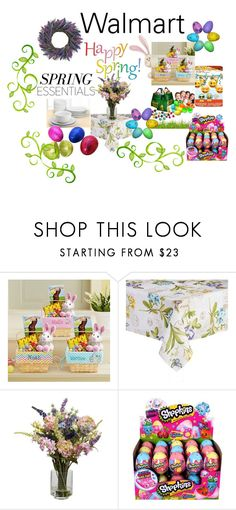 """""""SPRING: Walmart"""" by tammydevoll ❤ liked on Polyvore featuring interior, interiors, interior design, home, home decor, interior decorating, Goody and Shopkins"""