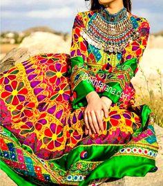 Afghan dress /لباس افغانى - http://dokhtarana.com/afghan-dress-لباس-افغانى/