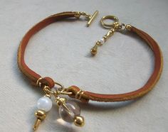 Leather bead bracelet