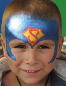 Kinderschminken-Superman-Helden-Comic