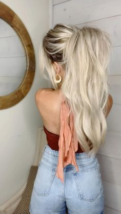 Work Hairstyles, Easy Hairstyles For Long Hair, Cute Blonde Hairstyles, Ponytail Hairstyles Tutorial, Flat Twist Hairstyles, Casual Hairstyles, Hair Updo, Unique Hairstyles, Short Bob Hairstyles