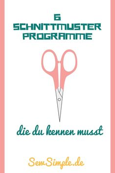 6 Schnittmuster-Programme You like to sew, are creative and realize your own ideas and projects made of fabric? Then you need a pattern program! In this post we want to help you to find a suitable pattern program for you. Easy Sewing Projects, Sewing Projects For Beginners, Knitting For Beginners, Knitting Projects, Sewing Hacks, Sewing Tutorials, Sewing Tips, Sewing Ideas, Sewing Patterns Free