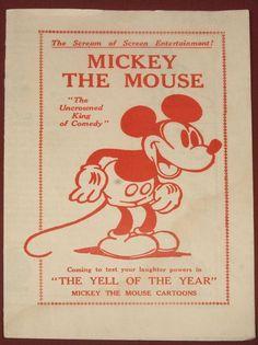 Vintage Disney-Mickey The Mouse-Minnie's Yoo Hoo Sheet Music-1930s-Herald-WXD