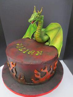 Modeling chocolate dragon on a chocolate/chocolate ganached cake – cake was huge × – heavy sucker:) Dragon Birthday Cakes, Dragon Cakes, Cake Wrecks, Camo Wedding Cakes, Modeling Chocolate, Chocolate Chocolate, Fantasy Cake, Fairy Cakes, Halloween Cakes