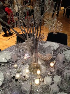 use snowflakes on my branches for those in the vase on entry table.