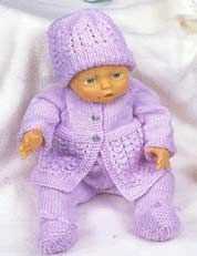 PURCHASED pattern - KNIT - Charity Pattern - Denny Kelly's Footed Leggings (knit) - site says pattern is to be for personal use only or for charity Knitting Dolls Clothes, Baby Doll Clothes, Sewing Dolls, Doll Clothes Patterns, Knitted Doll Patterns, Crochet Doll Pattern, Knitted Dolls, Baby Knitting Patterns, Baby Patchwork Quilt