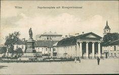 Ansichtskarte-Wilna-1917-Napoleonsplatz-mit-Murajewdenkmal