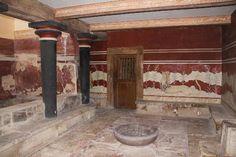 Sala del trono del palazzo di Cnosso