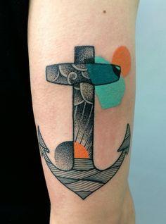 Anchor tattoo - Mariusz Trubisz