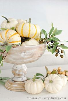 15 Simple Bowl Centerpieces For Thanksgiving - Shelterness Fall Home Decor, Autumn Home, Thanksgiving Centerpieces, Bowl Centerpieces, Centerpiece Ideas, Merry Christmas, Fall Planters, Modern Planters, Autumn Display