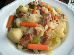 Crockpot Cabbage and Ham