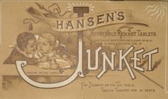 Pamphlet on Junket rennet tablets, produced in connection with the 20th anniversery of the founding of the company. Back cover
