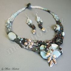 Under the sea necklace and earring set by Majka