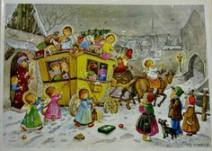 vintage German Advent calendar - Kruger